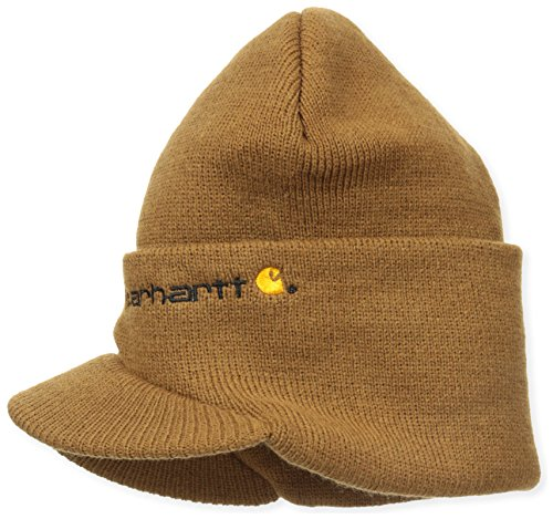 Carhartt Men's Knit Hat With Visor,Brown,One Size