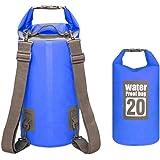 GemCoo Borsa Impermeabile 10L / 20L Borse Stagna Dry Bag per Rafting Viaggio Kayak Canoa Nuoto Pesca Campeggio Snowboard ect attività all'Aperto e Sport d'Acqua
