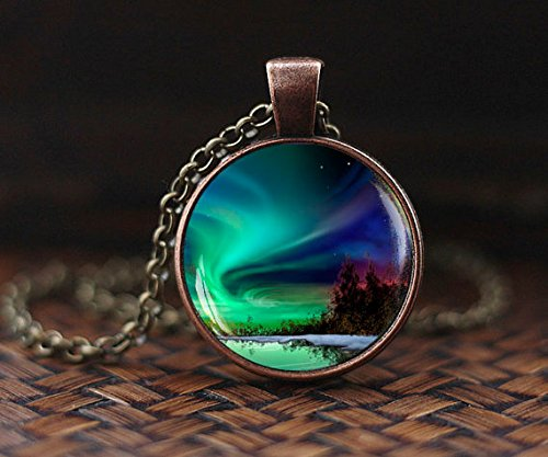 (Northern lights pendant, northern light Jewelry, light necklace, Aurora Borealis necklace, Aurora necklace )