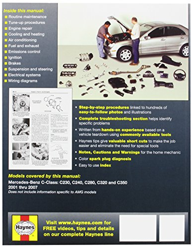 Automotive repair manual for mercedes benz c class 39 01 for Mercedes benz c service details
