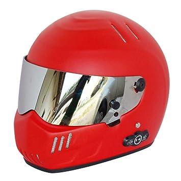 Casco De La Motocicleta Bluetooth De MJW, Casco De Doble Cara Del Frente Completo Del