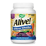 Nature's Way Alive! Pea Protein Shake, Includes Vitamins, Fiber and Food-Based Blends (200mg  per serving), Vanilla Flavor, 26 Servings, 33 Ounce, Pack of 1