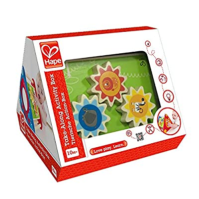 Hape Take-Along Wooden Toddler Activity Skill Building Box: Toys & Games