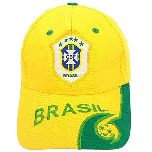 ShiningLove 2018 Russia World Cup Theme Baseball Cap Chic Adjustable Hats Soccer Fan Souvenir Brazil ()