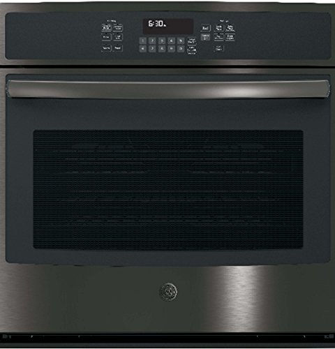 GE JT5000BLTS 30 Inch 5 cu. ft. Total Capacity Electric Single Wall Oven in Black Stainless