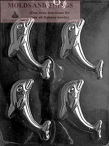 DOLPHIN Chocolate Candy Mold With Candy Making Instruction -set of - Mold Dolphin Plastic