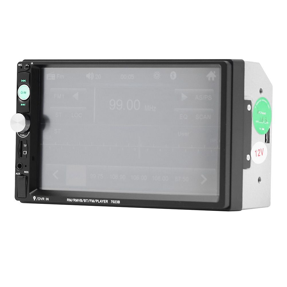 con 4 LED Camara TOOGOO 7023B 2 DIN Reproductor de Audio Multimedia de Coche Reproductor MP5 HD 5 de Pantalla tactil de 7 Pulgadas de Radio Estereo Soporte Bluetooth FM Camara USB Aux