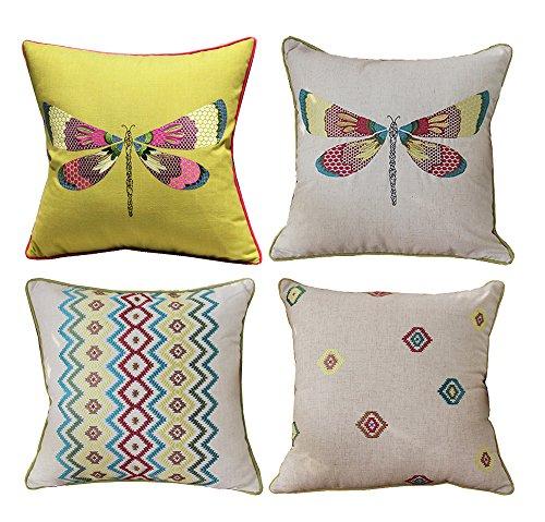 Modern Simple Geometric Style Cotton & Linen Decor Throw Pil