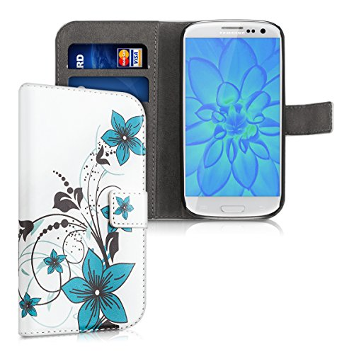 kwmobile Wallet Case for Samsung Galaxy S3 / S3 Neo - PU Leather Protective Flip Cover with Card Slots and Stand - - Card Sleeves Neo