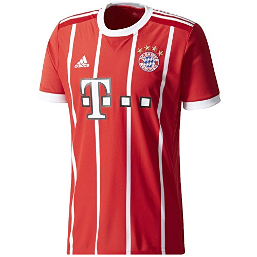 c21b87cbfb9c8 Adidas FC Bayern Munich Home Replica Jersey Men's Soccer XL True Red-White