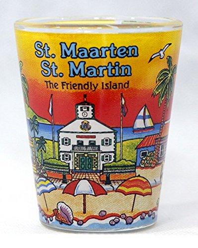 Martin Glass - St. Martin/St. Maarten Sunset Shot Glass agc