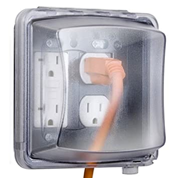 Taymac 2 Gang Weatherproof In Use Cover, 55 In 1, 2 3/4 In. Deep, Clear    Electrical Outlet Boxes   Amazon.com