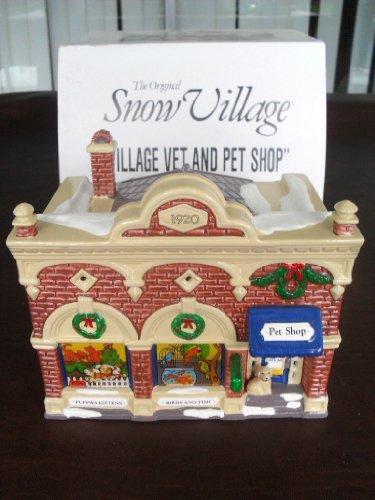 Retired Dept 56 Snow Village - Village VET & and PET Shop by Original Snow Village