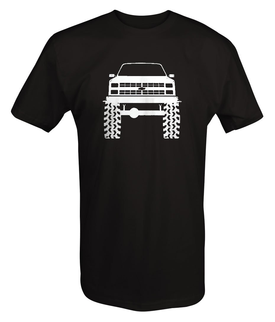 1980's 90's Chevy K5 Blazer Lifted Mud Tires Truck T shirt - Xlarge