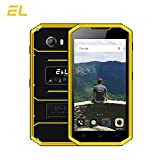 E&L W7S 4G LTE Rugged Smartphone Unlocked IP68 Waterproof Dustproof Shockproof 16GB/2GB Android 6.0 Camera 8MP Military Grade GSM Cellphone(Yellow)