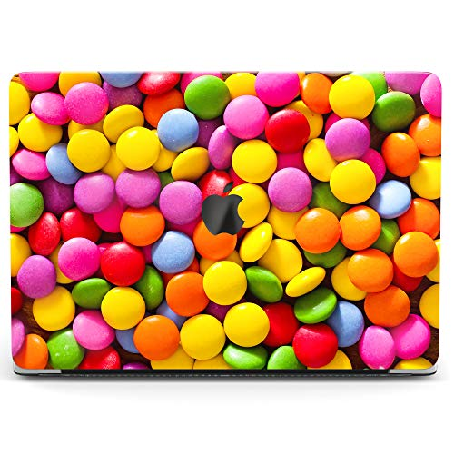 Wonder Wild Case for MacBook Air 13 inch Pro 15 2019 2018 Retina 12 11 Apple Hard Mac Protective Cover Touch Bar 2017 2016 2015 Plastic Laptop Print Colorful M&M's Cute Chocolate Rainbow Pink Pattern ()