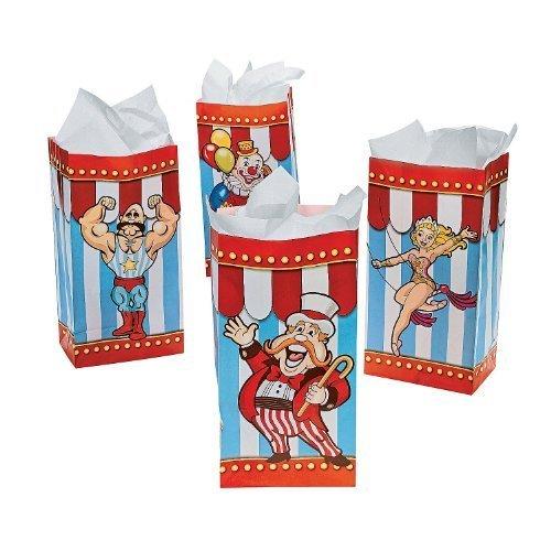 (Big Top Carnival Paper Treat Bags - 12 per unit)