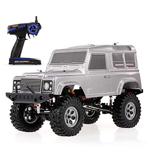 QianBaiHui Desert Off-Road Remote Control Car 1/10 2.4Ghz 4WD Waterproof Realistic Remote Control Rock Cruiser RC-4 Cars Off-Road Crawler for Boys Kids RTC,Silver