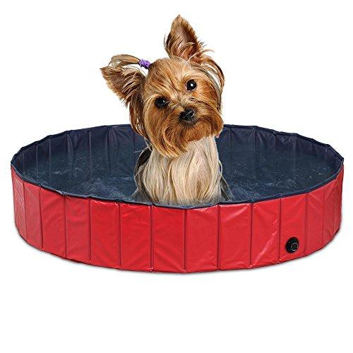 Yaheetech Foldable PVC Pet Swimming Pool Bathing Tub