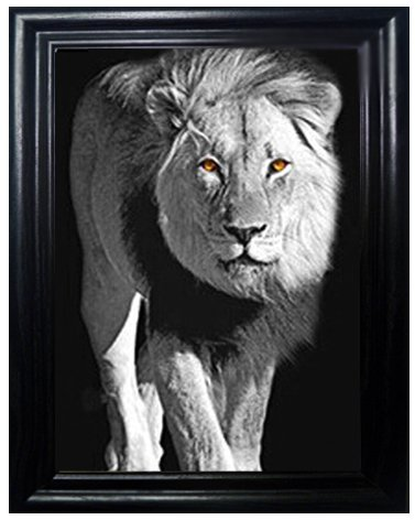 BIG CATS FRAMED Holographic Wall Art-POSTERS That FLIP and CHANGE images-Lenticular Technology Artwork--MULTIPLE PICTURES IN ONE--HOLOGRAM Images Change--Technology by THOSE FLIPPING PICTURES by Those Flipping Pictures (Image #3)