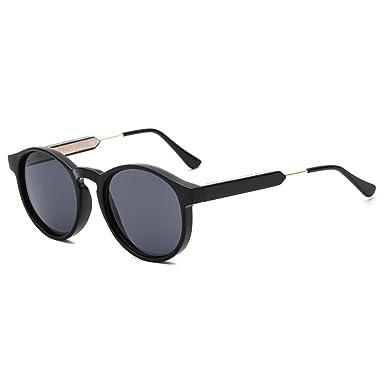141c90a03264 SUERTREE Round Mirrored Sunglasses Women Men Metal Vintage Shades Fashion  Retro Eyewear UV400 JH9005