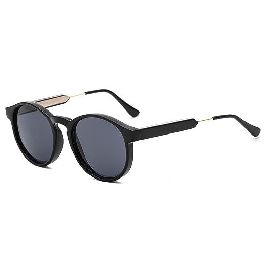 ee0e27c44 SUERTREE Vintage Sunglasses Unisex Shades Small Round Cute Half Metal Arms  Rimmed UV400 Eyeglasses JH9005