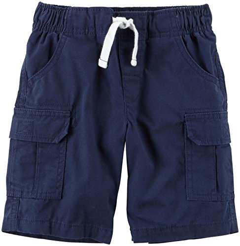 Carter's Boys Woven Short 248g371, Navy, 3T (Canvas Drawstring Shorts)