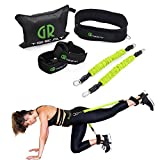 Guard Revival Booty Fitness Band Set - Booty Belt for Glutes Muscle Workout - Perfect Band to Lift Your Butt - Including Waist Belt, Two Resistance Bands, Two Ankle Straps and A Carry Bag. (Green)