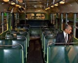 President Barack Obama In Rosa Park Bus 8 x 10 GLOSSY Photo Picture