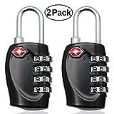 MIONI 2X TSA Approved Luggage Locks Combination Lock, 4 Digit Travel Padlocks