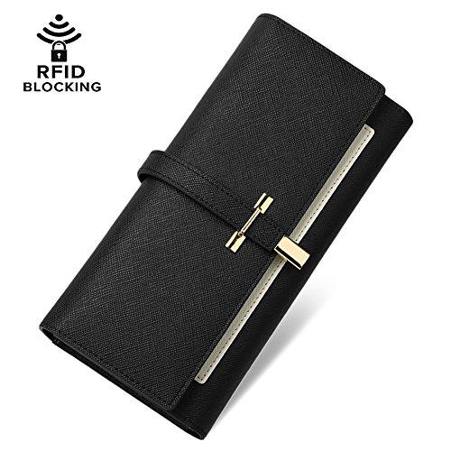 Women Fashion Leather Wallet Black - 4