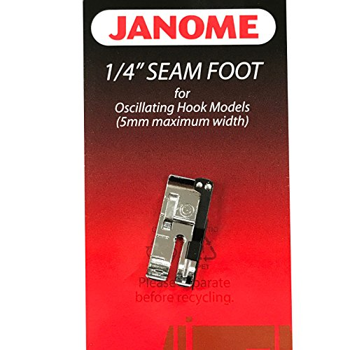 "1/4"" Seam Foot For #200330008 Janome Oscillating Hook Models"