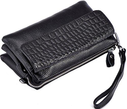 Clutches Bag for Blue Heshe Shoulder Womens body Cross Pocket Handbags Bags Wrist Sky Ladies Genuine Satchel let Leather U6Twxzt6