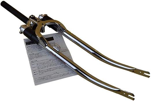 QXFJ 27 Pulgadas / 700C Horquilla de Bicicleta, Horquilla Delantera De Bicicleta Retro Dentada/Longitud del Tubo Vertical 175 Mm/Tubo Exterior 25.4 / Engranaje Abierto 94 Mm: Amazon.es: Hogar