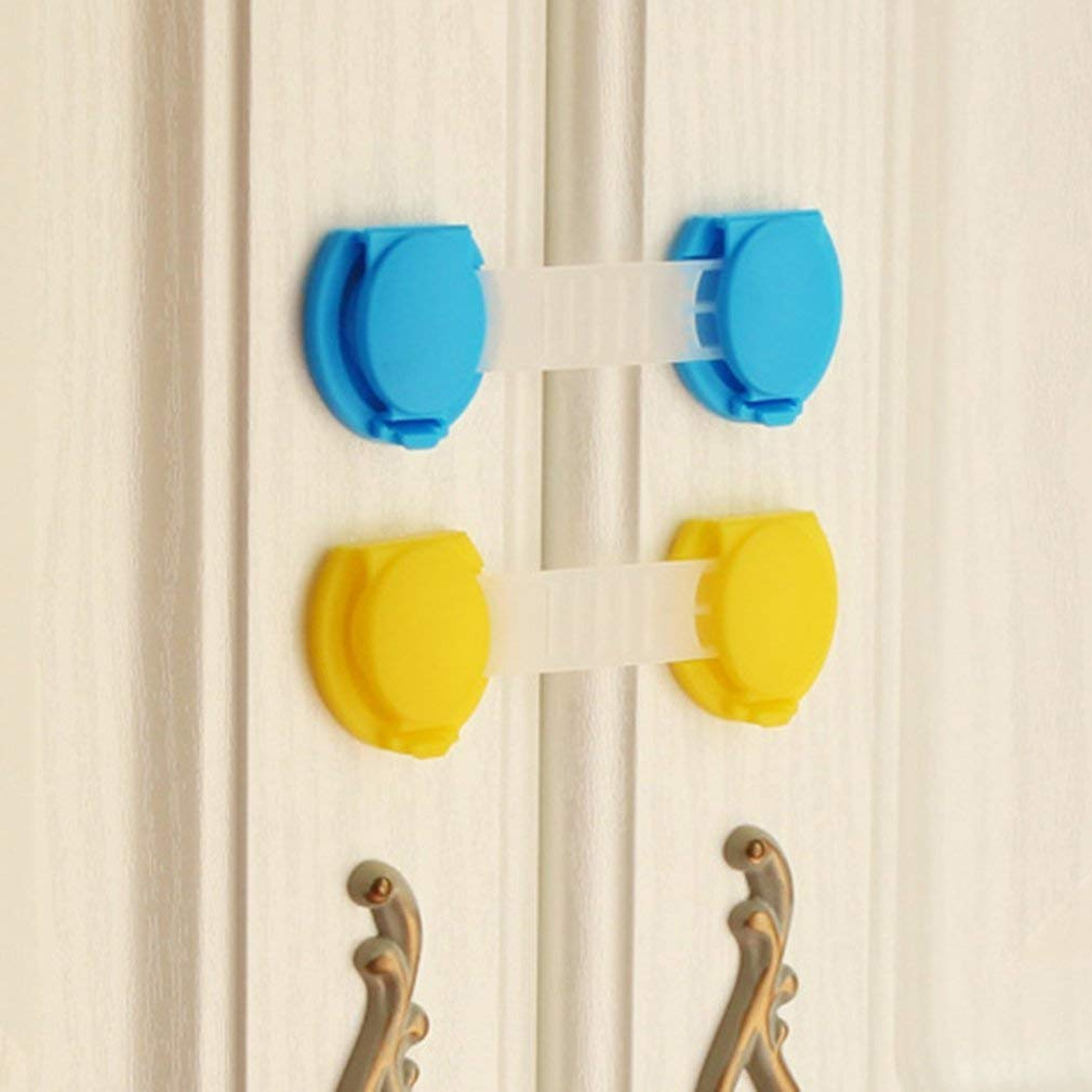 Premium Quality ABS Children's Safety Lock Drawer Lock Multifunctional Wardrobe Buckle Garden Home Kitchen