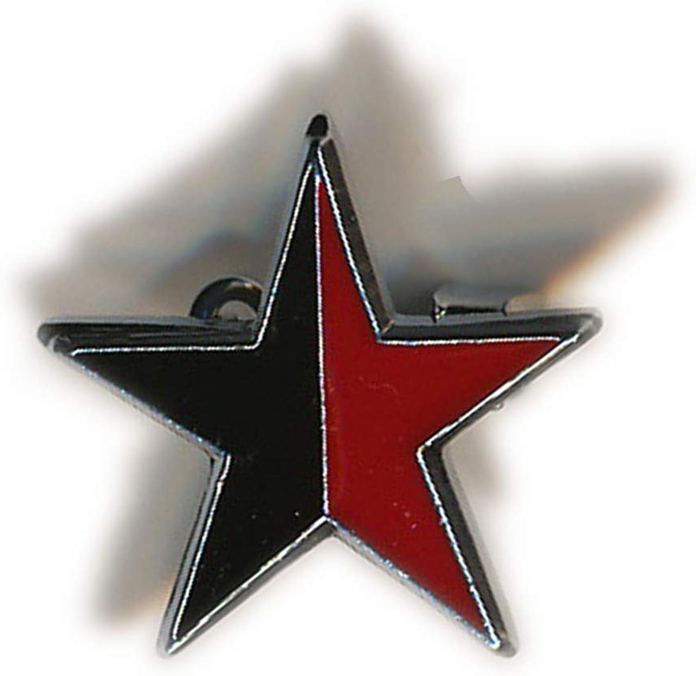 Active Distribution Pin de metal esmaltado rojo y negro estrella anarquista bandera anarquista anarquismo revolución