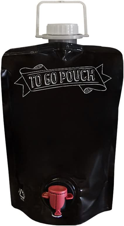 1.5L Wine Growler Pouches (3 pack) [Eco-Friendly Glass Growler Alternative] - Easily Bottle, Dispense & Store Your Wines - Perfect For Home Winemakers and Small Wineries to Sell in Your Tasting Room!