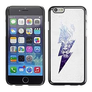Caucho caso de Shell duro de la cubierta de accesorios de protección BY RAYDREAMMM - Apple iPhone 6 - Danger High Voltage Lightning