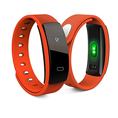 Activity Tracker QS80 Bluetooth Band OLED Heart Rate Smart Bracelet for iPhone & Android Phones