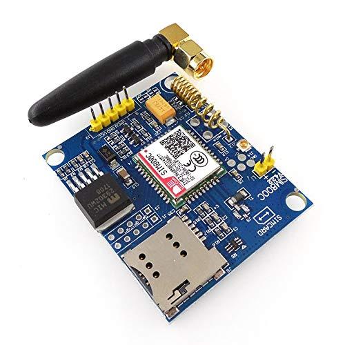 Florenceenid SIM800C Tarjeta de Desarrollo Quad-Band gsm GPRS Módulo Compatible con Bluetooth/TTS/DTMF Tarjeta Módulo con...