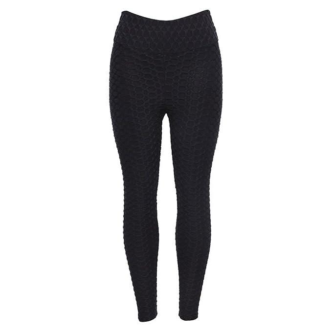 Pantalones Yoga Mujeres Mallas Deportivas Mujer Pliegue ...