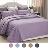quilts coverlets - Purple Coverlet Set Luxury Bedding Quilt Twin Size 68