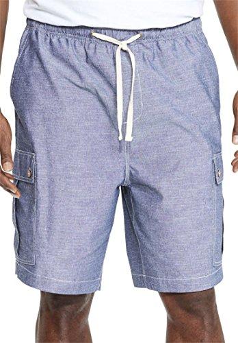 Indigo Relaxed Fit Shorts (Kingsize Men's Big & Tall Chambray Cargo Shorts, Indigo Tall-4Xl)