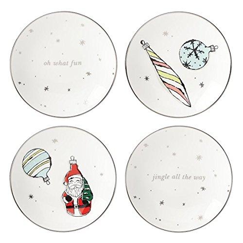 kate spade new york Vintage Ornaments Tidbit plates - Set of 4