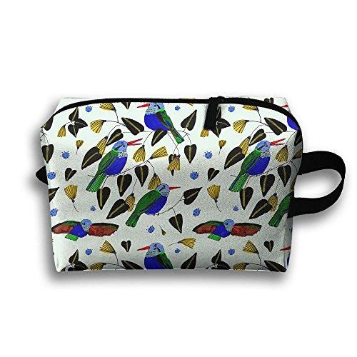 Hummingbird Cute Bird Cosmetic Bags Makeup Organizer Bag Pouch Zipper Purse Handbag Clutch Bag