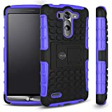 Cable And Case Dual Layer Armorbox Hybrid Kickstand Case for LG G3 - Purple