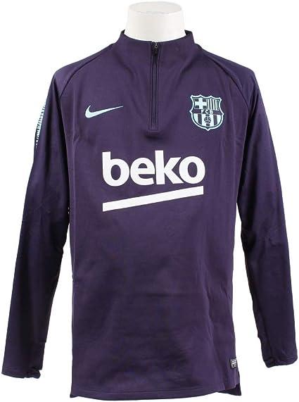 Mens Purple Nike Barcelona Squad Training Drill Top 2018//19