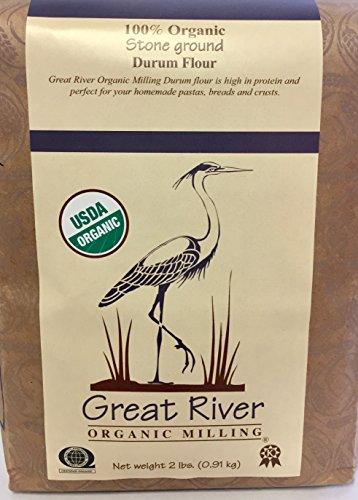 Great River Organic Milling Organic Whole Grain Durum Flour, 2 Pound
