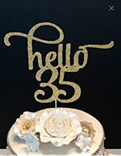 Sugar Plum Creations Hello 35 Number Cake Topper