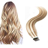 Tape in Hair Extensions 100% Remy Human Hair 16
